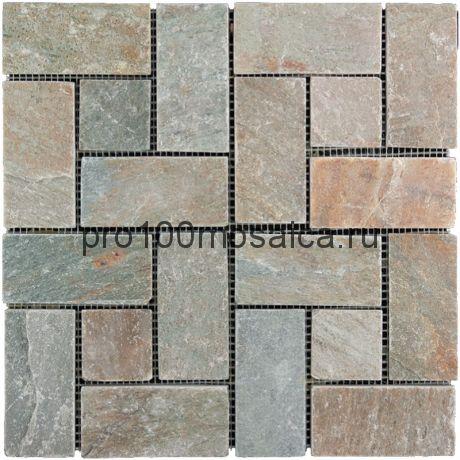 KL-M014 (YC-014)  Мозаика Сланец 48*48, 48*98 FRANCE 300*300*10 мм (NATURAL)