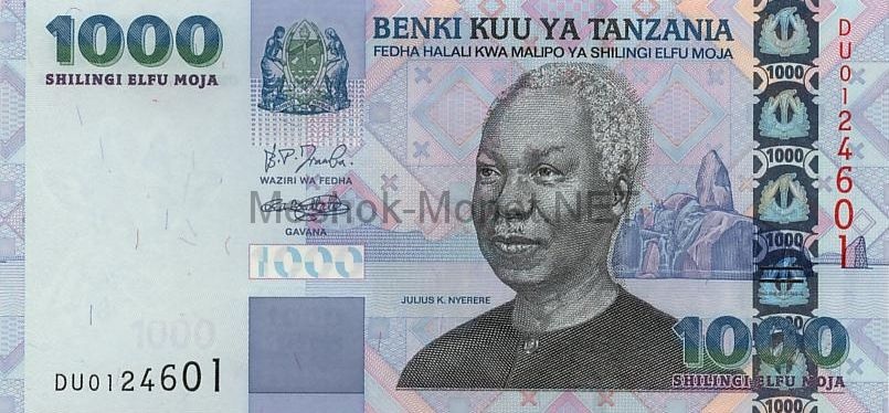 Банкнота Танзания 1000 шиллингов 2003 год