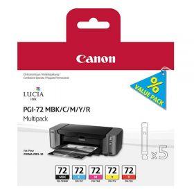 Картридж оригинальный CANON PGI-72 MBK/C/M/Y/R MULTIPACK