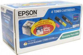 Набор тонер-картриджей оригинальный EPSON для AcuLaser C1100 (4 цвета)