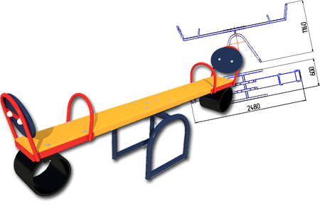 Качели-балансир КБ-1