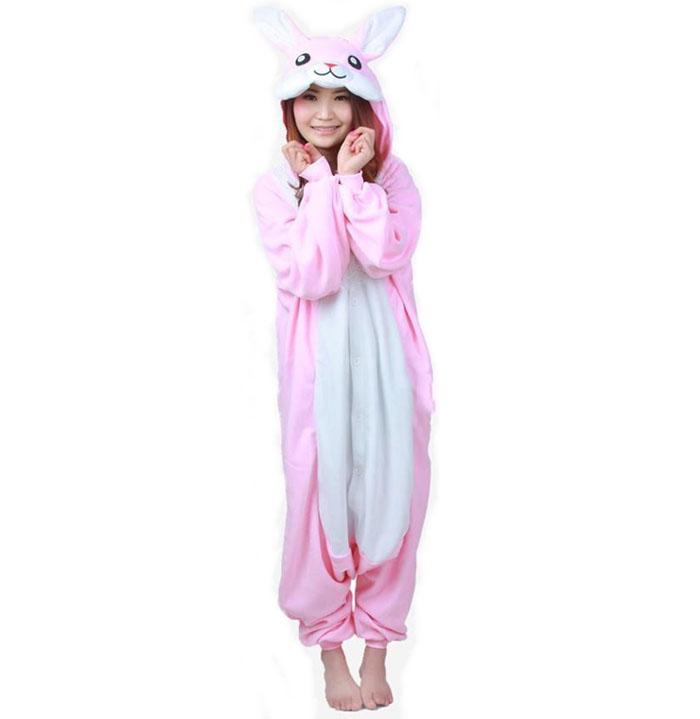 Пижама Кигуруми Заяц Розовый _01