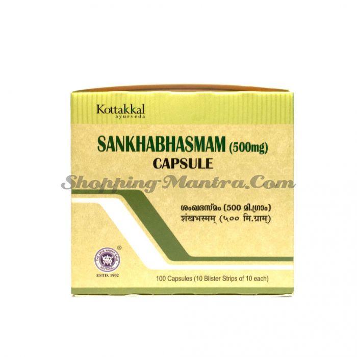 Шанкха бхасма (пепел морских раковин) в капсулах Арья Вайдья Сала/AVS Kottakkal Sankha Bhasman Capsules