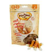 Мнямс Лакомства для собак Кальцинированные косточки с куриным мясом (100 г)