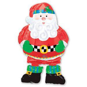 Шар ходячий Санта в сапогах (94 см.)