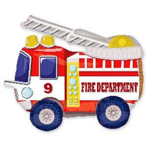Шар ходячий Пожарная машина (52/132 см)