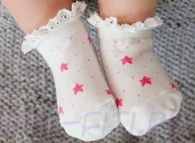 Носочки звездочки розовые (2-4г)