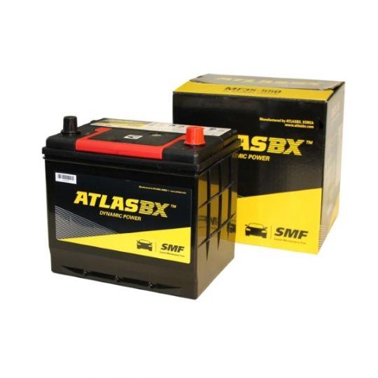 Автомобильный аккумулятор АКБ ATLAS (Атлас) 90RC MF85-500 55Ач о.п. нижнее крепление