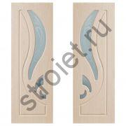 Двери межкомнатные Лилия беленый по  пвх