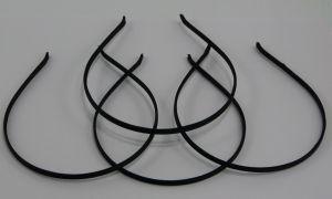 Ободок металл обтянутый тканью 5 мм, цвет: черный (1уп = 12шт)