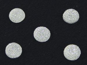 `Кабошон круглый, акрил, блестящий, 18 мм, цвет №01 прозрачный
