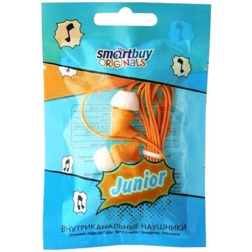 Наушники вакуумные Smartbuy JUNIOR, оранжевые (SBE-550) (в пакетике)