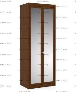 Шкаф двухстворчатый Итальянские мотивы с зеркалами (51.202.03) МДФ, 85х58х228
