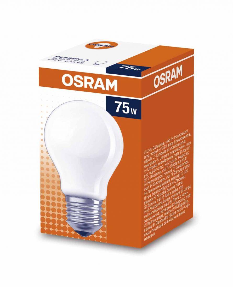 Лампа OSRAM A 75W E27FR