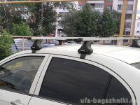 Багажник на крышу Honda Civic 2012-..., Атлант, прямоугольные дуги, опора Е
