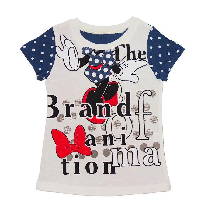 Блуза для девочки Минни Маус серая