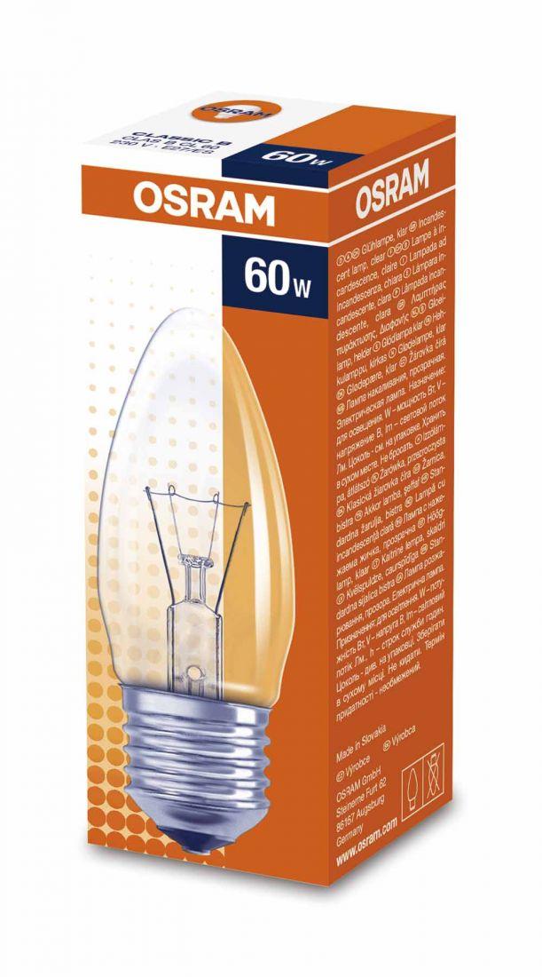 Лампа OSRAM B 60W E27CL