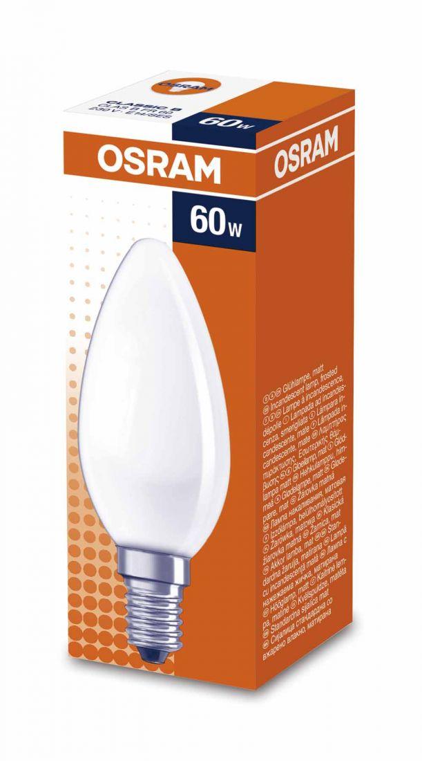 Лампа OSRAM B 60W E14FR