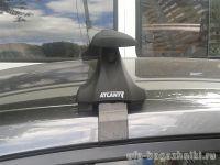 Багажник на крышу Citroen C4 sedan / hatchback c 2011 г., Атлант, с крыловидными аэродугами