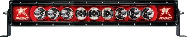 """Однорядная светодиодная балка с красной подсветкой Rigid Industries Radiance 20"""" (9 диодов)"""