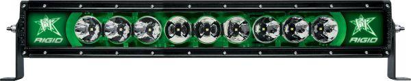 """Однорядная светодиодная балка с зеленой подсветкой Rigid Indstries Radiance 20"""" (9 диодов)"""