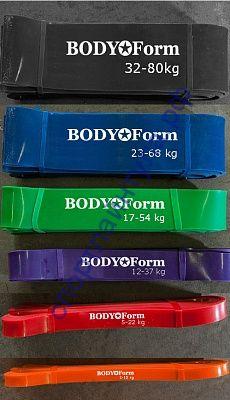 Петли резиновые Body Form зеленые 17-54 кг