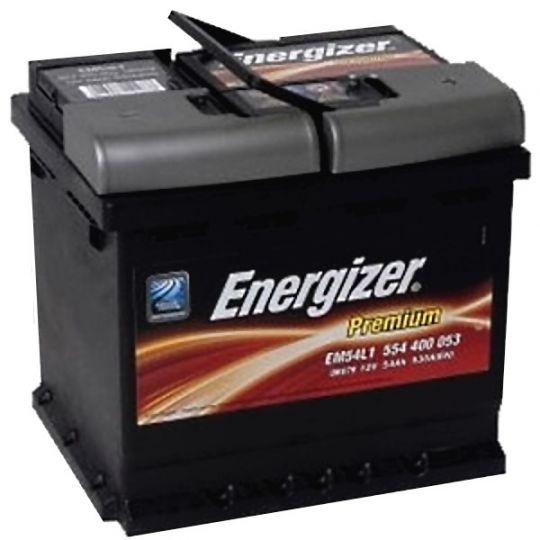 Автомобильный аккумулятор АКБ Energizer (Энерджайзер) PREMIUM EM54L1 554 400 053 54Ач о.п.