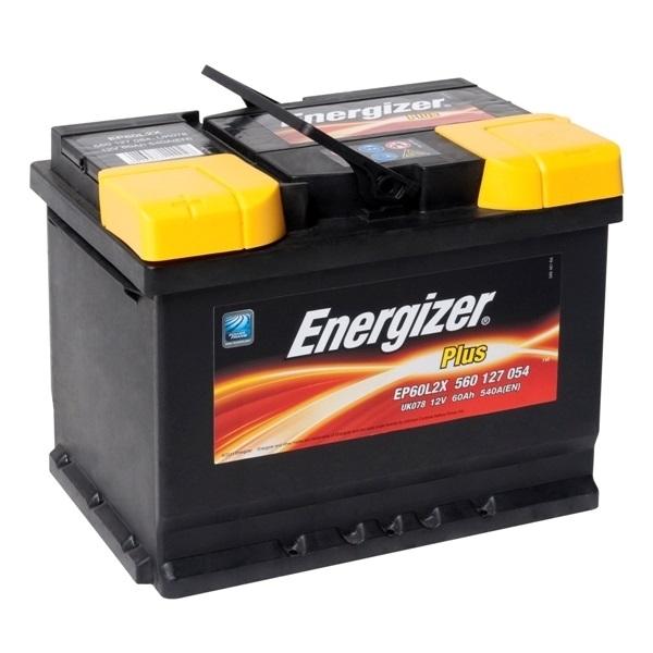 Автомобильный аккумулятор АКБ Energizer (Энерджайзер) PLUS EP60L2X 560 127 054 60Ач п.п.