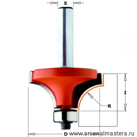 CMT 938.754.11  Фреза радиусная серия 938 внутр.радиус  R6,35 (нижн. подш.) S12 D25,4x12,7