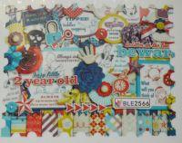 Водная наклейка для дизайна ногтей BLE 2566
