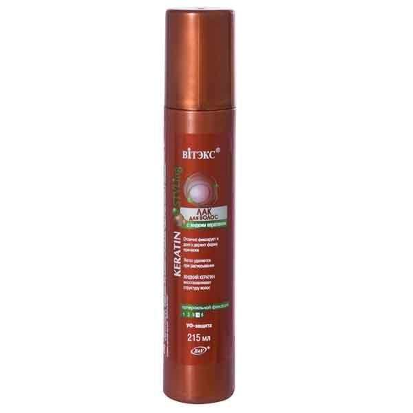 ЛАК для волос с жидким кератином суперсильной фиксации 215 мл 215 мл