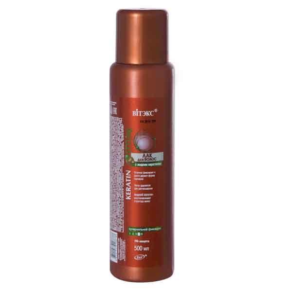 ЛАК для волос с жидким кератином суперсильной фиксации 500 мл 500 мл