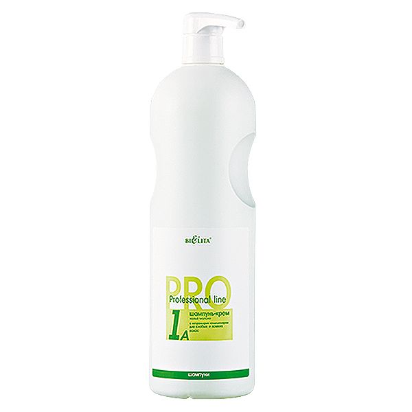 Pro Шампунь-крем с натуральным кондиционером для слабых и ломких волос Козье молоко 1000 мл