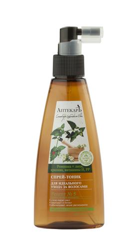 Спрей-тоник  для идеального ухода за волосами Ромашка + липа, крапива, витамины Н, РР 150 мл