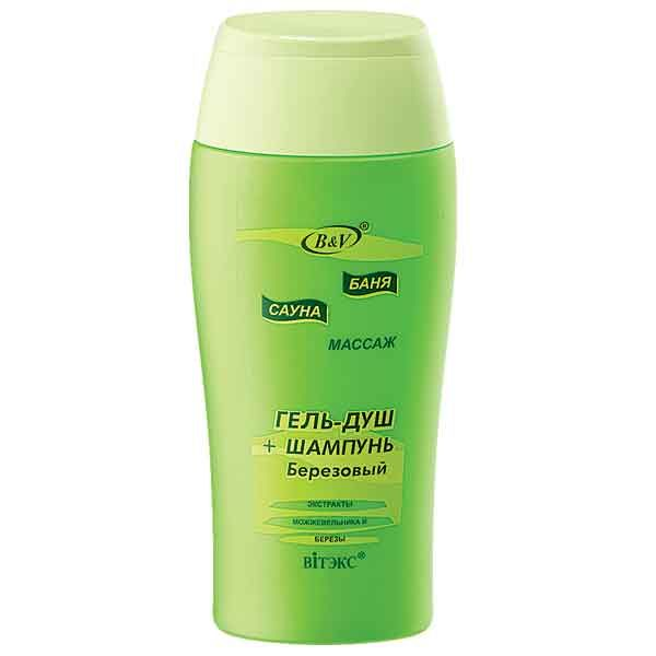 Гель-душ + шампунь «Березовый» 300 мл