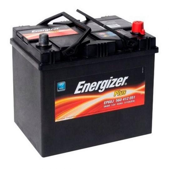 Автомобильный аккумулятор АКБ Energizer (Энерджайзер) PLUS EP60J 560 412 051 60Ач о.п.