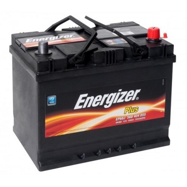 Автомобильный аккумулятор АКБ Energizer (Энерджайзер) PLUS EP68J 568 404 055 68Ач о.п.