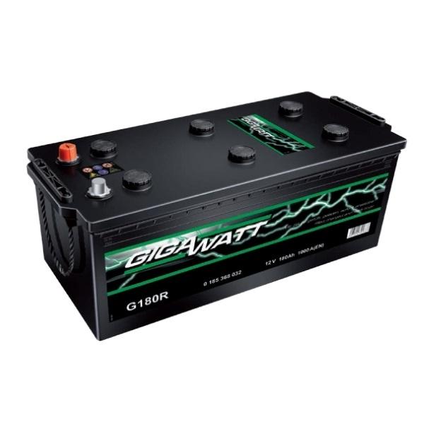 Автомобильный аккумулятор АКБ GigaWatt (Гигават) G180R 680 032 100 180Ач О.П. (3) (евро)