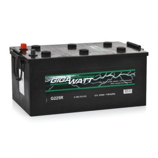 Автомобильный аккумулятор АКБ GigaWatt (Гигават) G225R 725 012 115 225Ач О.П. (3) (евро)