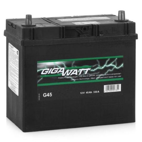 Автомобильный аккумулятор АКБ GigaWatt (Гигават) G45L 545 157 033 45Ач п.п.
