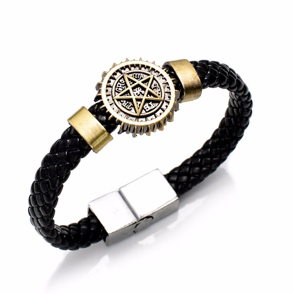 Кожаный браслет Тёмный дворецкий