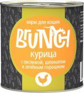 Brunch для кошек Курица с овсянкой, шпинатом и зеленым горошком (240 г)