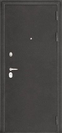 Металлическая дверь Колизей тёмное серебро