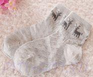 Носочки с оленями серые 16 см