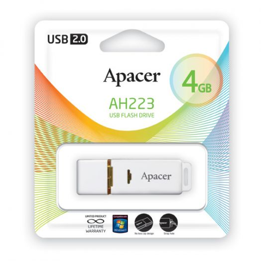 USB накопитель Apacer 4GB AH223 white