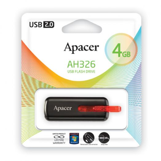 USB накопитель Apacer 4GB AH326 black