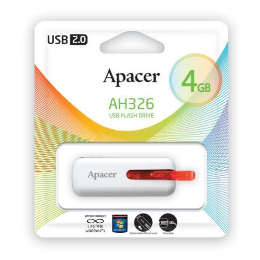 USB накопитель Apacer 4GB AH326 white