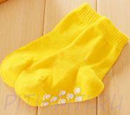 Носочки с тормозками-лапочками желтые (12 см)