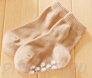 Носочки с тормозками-лапочками коричневые (12 см)
