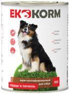 Еkkorm Для собак Сердце и печень (850 г)
